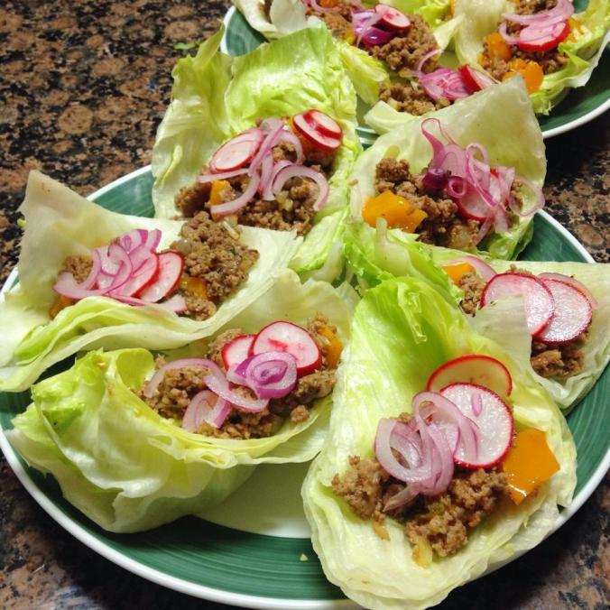 Turkos: turkey lettuce tacos