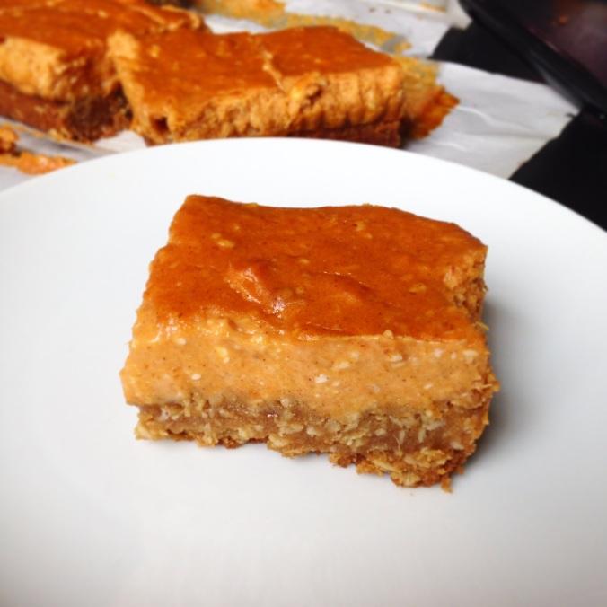 gluten-free pumpkin cheesecake bars